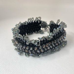 Vintage Glass Beads Bracelet
